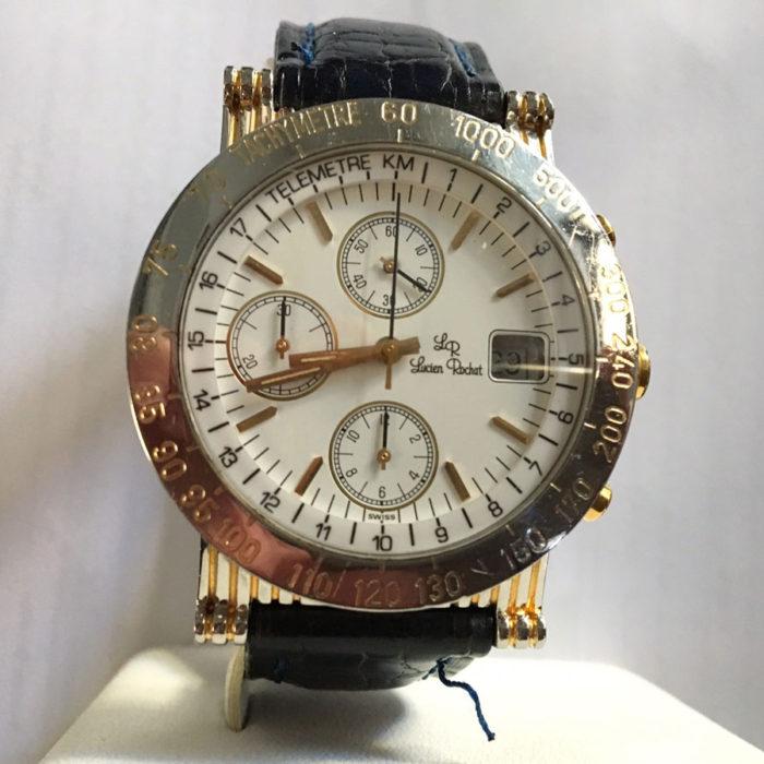 Lucien Rochat crono tricompax, acciaio e oro, data, revisioanto, un anno garanzia negozio. € 800