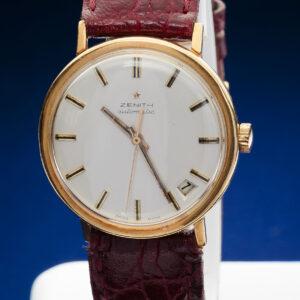 Zenith cassa oro, data, automatico, cassa 34mm, anni 70/80 revisionato, tutto originale, un anno di garanzia del negozio € 1000