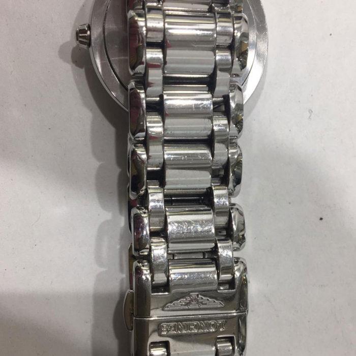 Longines Prima Luna, acciaio e brillanti ct . 0,43, quarzo, diametro mm30 con garanzia originale + garanzia un anno del negozio, anno 2013 come nuovo. € 1000,00.