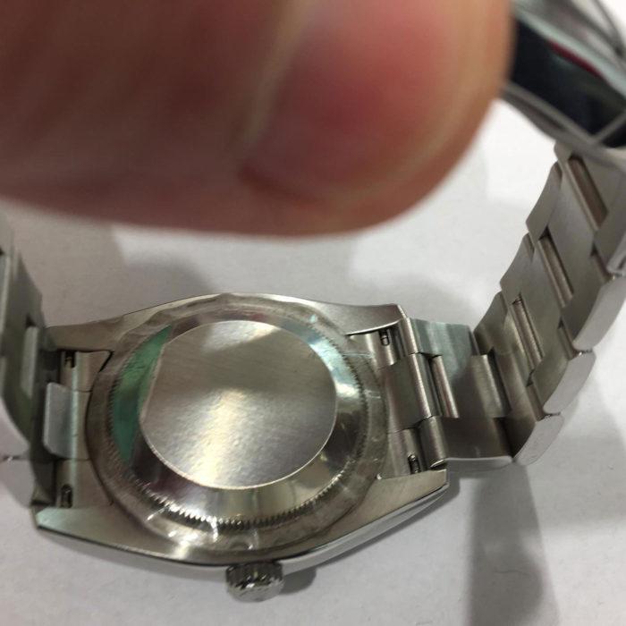 """Rolex Oyster Perpetual acciaio, automatico, anno 2011, """"NUOVO"""" ANCORA CON LE PELLICOLE DI PROTEZIONE, scatola e garanzia più garanzia negozio di un anno."""