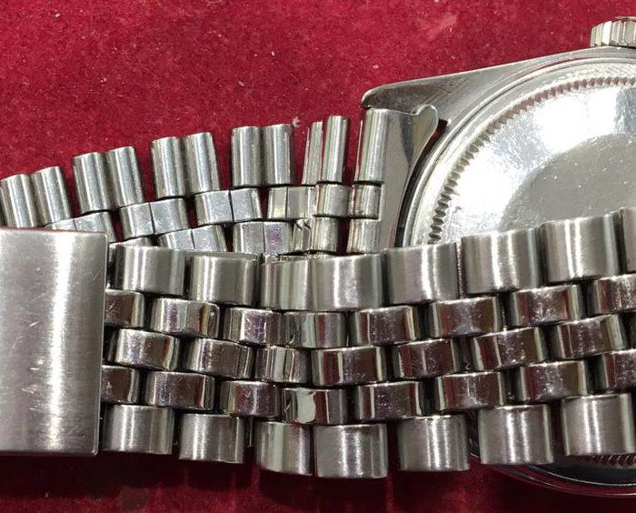 Rolex Date Just in acciaio, automatico, data, anni 70, scatto lento, vetro plastica, scatola.