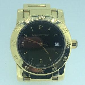 Girard Perregaux Lady, anni 2000, movimento al quarzo con data, cassa e bracciale oro kt 18 di complessivi 98,60 grammi