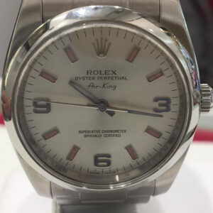 Rolex Air King acciaio, automatico, anno 2007, come nuovo, revisionato, un anno di garanzia negozio, scatole e garanzia Rolex, bracciale oyster.