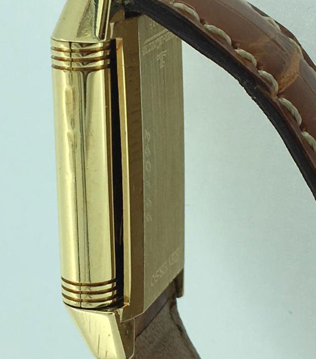 Jaeger le Coultre Reverso Lady, carica manuale, cassa e fibbia oro, scatola, revisionato, un anno di garanzia del negozio.