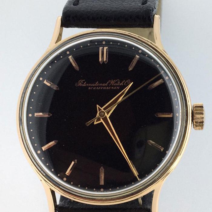 International Watch Vintage, cassa oro, revisionato, carica manuale, perfetto. Garanzia del negozio di un anno.