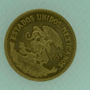 20 Pesos Messico, gr. 16,66 di oro A 900 mm.