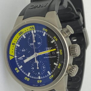 IWC Aquatimer Titanio, Crono, Automatico, Data, Giorno, anno 2004, scatola e garanzia.