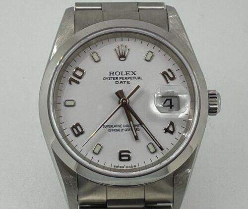 Rolex Date Acciaio, anno 2006, automatico, data, scatola e garanzia più un anno di garanzia del negozio