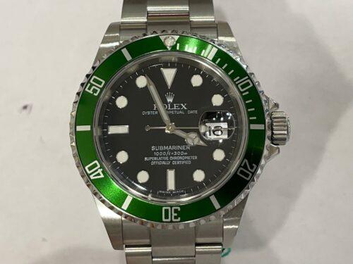 Rolex Submariner Ghiera Verde, 166/olv, anno 2007, acciaio, automatico, scatola e garanzia più un anno di garanzia negozio.